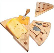 Swivel Wedge Shaped Cheese Board Sets