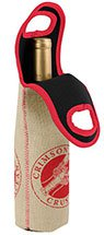 Burlap and Neoprene Wine Totes
