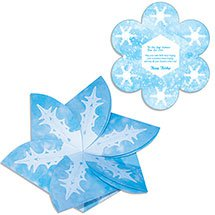 "5.5"" x 5.5"" Snowflake Poster Board 3D Gift Card Holders"
