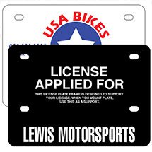 ".055"" Polyethylene Motorcycle License Plate Supports"