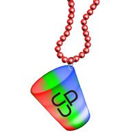 Light Up Neon 2 oz. Shot Glass Bead Necklaces