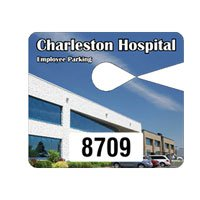 Full Color Jumbo Parking Permit Hang Tags - 4 x 3.5