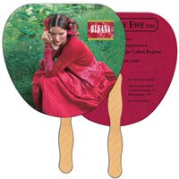 Full Color Econo Palm Leaf Hand Fans