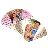 Expandable Four Part High Gloss Wedding Hand Fans