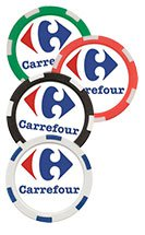 11.5 Gram Full Color Decal Composite Poker Chips - 6 Stripe