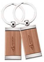 Engraved Bamboo Key Ring