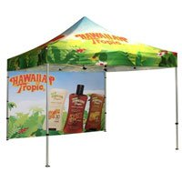 10' Square Event Tent with Printed Wall, Full Coverage Print