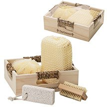 4 Piece Spa Kit in Wood Box