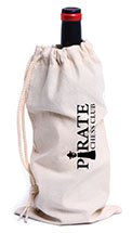 Fredricksburg Cotton Canvas Drawstring Wine Bags