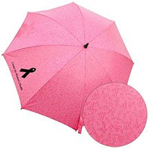 Pink Umbrella with Surprise Ribbon Pattern
