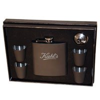 Flask and Shot Glass Sets - Leather Wrapped