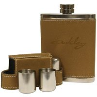 Leather Covered Flask and Shot Glass Sets