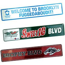 24 x 5 Full Color Embossed Aluminum Street Sign