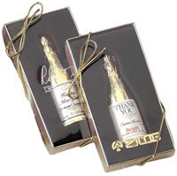 Champagne Bottle Shaped Chocolate - Gift Box