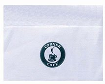 "1-Ply 6.5"" x 5"" White Dispenser Napkins"