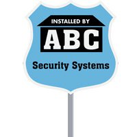 Badge Security Yard Signs with Optional Stakes