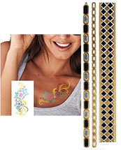 "2"" x 6"" PrismFoil Metallic Temporary Tattoos"