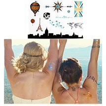 "5"" x 7"" PrismFoil Metallic Temporary Tattoos"