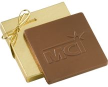 Custom 2 oz. Chocolate Squares in Gift Box