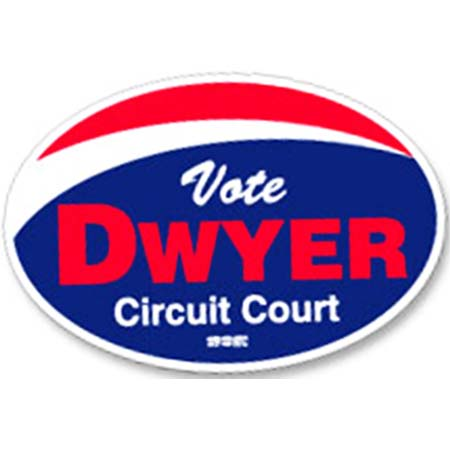 Political Magnetic Car Signs Oval 11-1/2 x 17