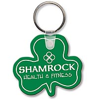 Key Chains, Sof-touch Shamrock Key Tags