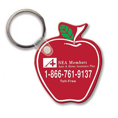 Key Chains, Sof-touch Apple Key Tags