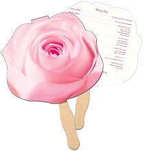 Sandwiched Rose Hand Fans