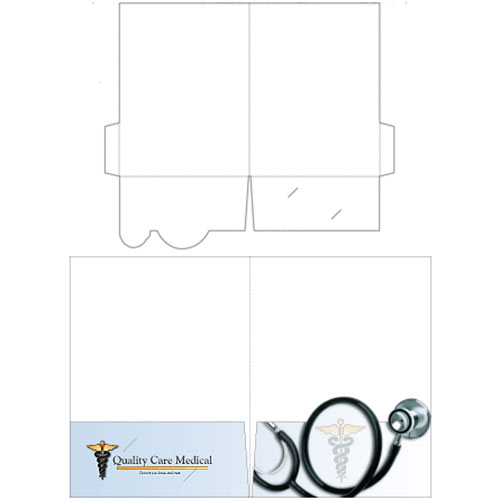 "9"" x 12"" Stethoscope Presentation Folders"