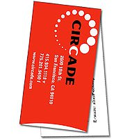 Horizontal  Double Business Card - 4/1