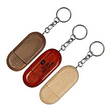 Wooden Oval USB Flash Drives