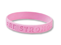 "Be Strong"" Breast Cancer Awareness Bracelets"