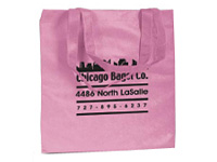 Pink Non-Woven Promotional Tote Bags