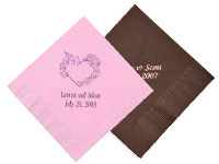 Colored 2-Ply Wedding Beverage Napkins