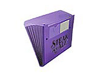 Plastic 6 Pocket Files with Button Closure