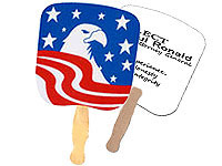 Bald Eagle Patriotic Hand Fans