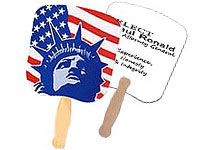 Lady Liberty Patriotic Hand Fans