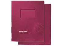 Two Piece Embossed Window Report Covers