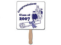 High Gloss Square Graduation Fans