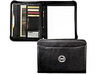 Zippered Closure Leather Padfolios