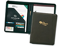 Corporate Zippered Leather Porfolios