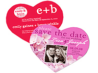 Heart Save the Date Magnets