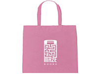 100% Cotton Pink Tote Bags