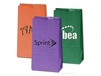 "4-1/4"" x 8-1/4"" Colored Paper Popcorn Bags"