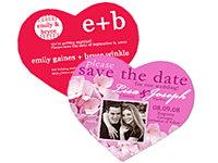 2-1/2 x 2 Heart Save the Date Magnets