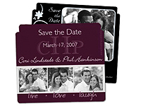 "Die Cut 4"" x 3-1/2"" Save the Date Magnets"