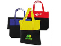 Two Tone Recyclable Plastic Tote Bags