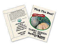 Organic Cantaloupe Seed Packets